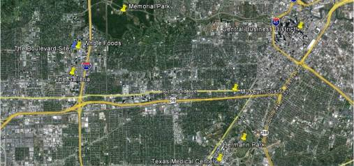 Boulevard site map Houston